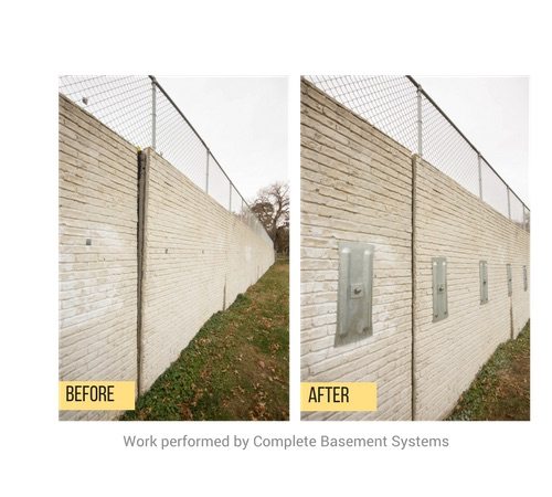 before after basement wall