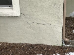 crack in wall outside