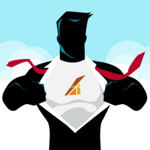 level superhero illustration