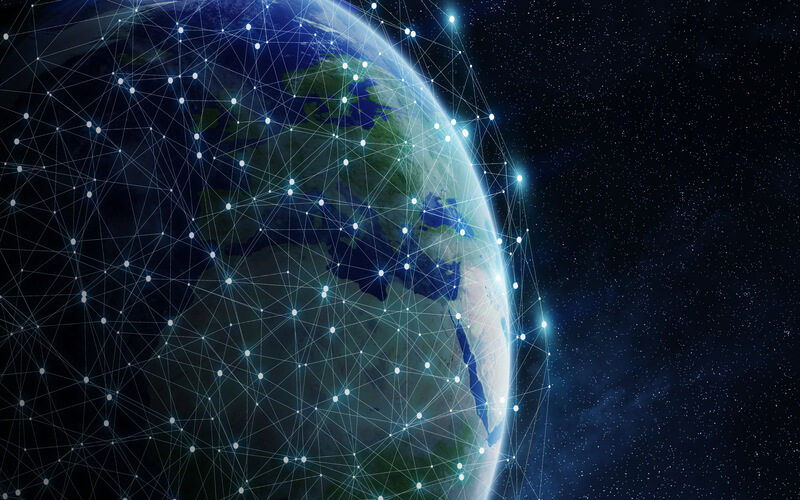 Earth connected by networks