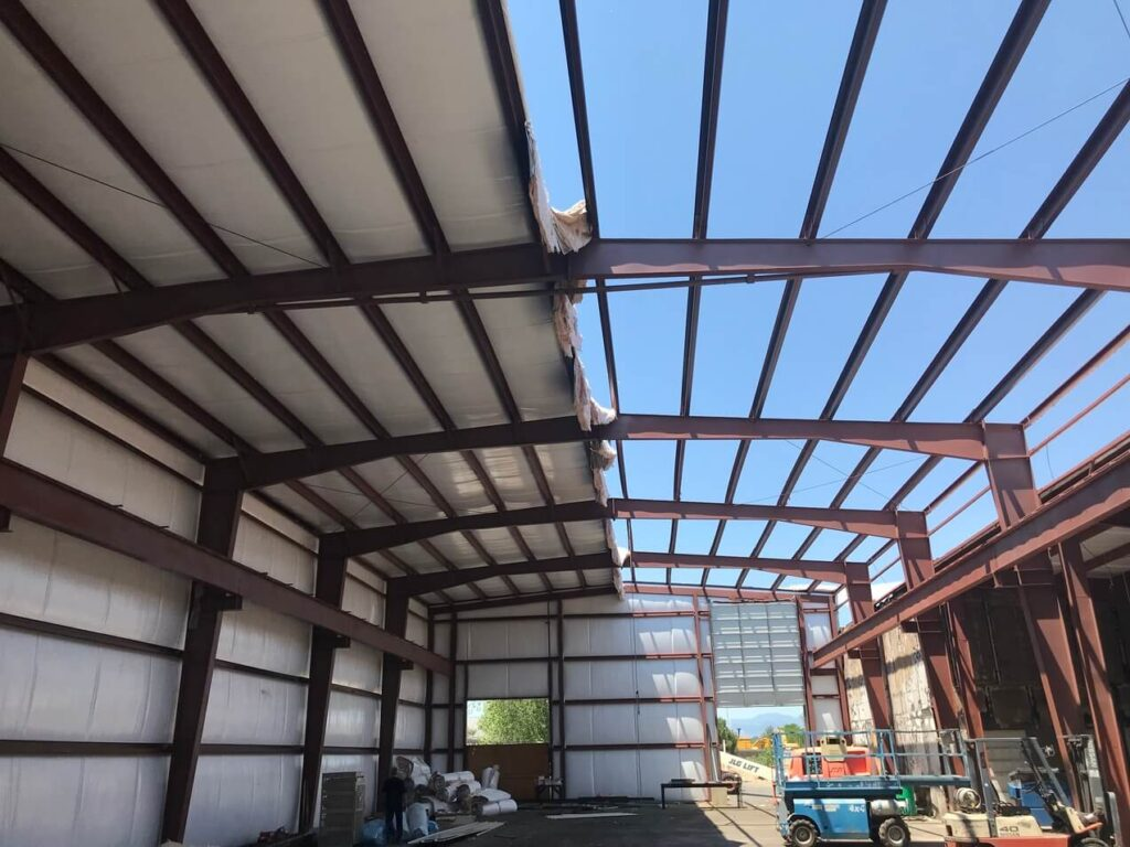 Commercial project roof